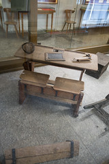 Antique German school desk