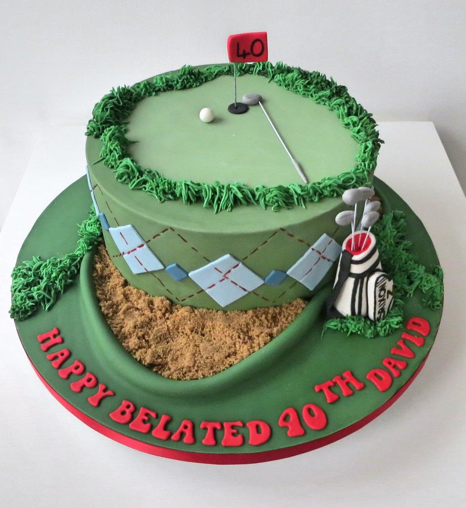 40th Golf Themed Birthday Cake