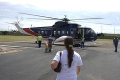 Getting on the Helicopter to get out to the Scilly Iles Image