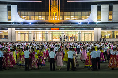 Mass Dance in Wonsan Central Square