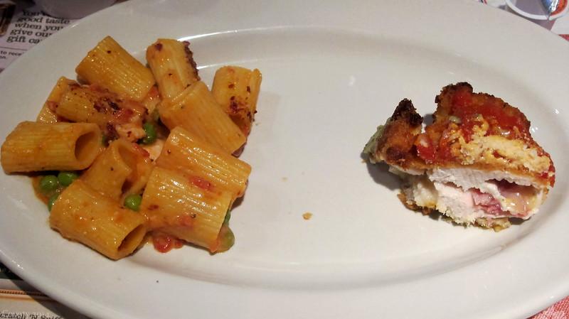 Spicy chicken rigatoni and prosciutto stuffed chicken