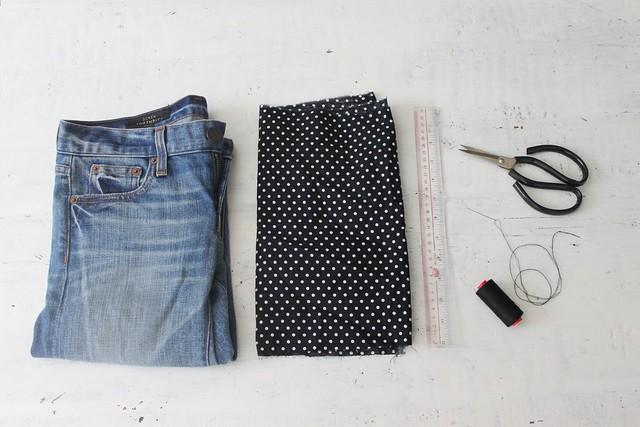 How to make turn up cuff jeans www.apairandasparediy.com