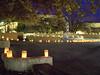 Luminarias on campus