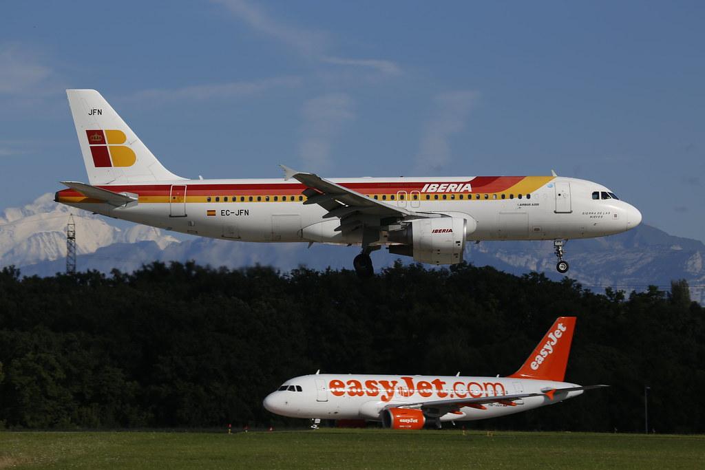 EC-JFN - Iberia A320 in Geneva