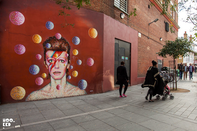 Jimmy C's David Bowie Mural Brixton