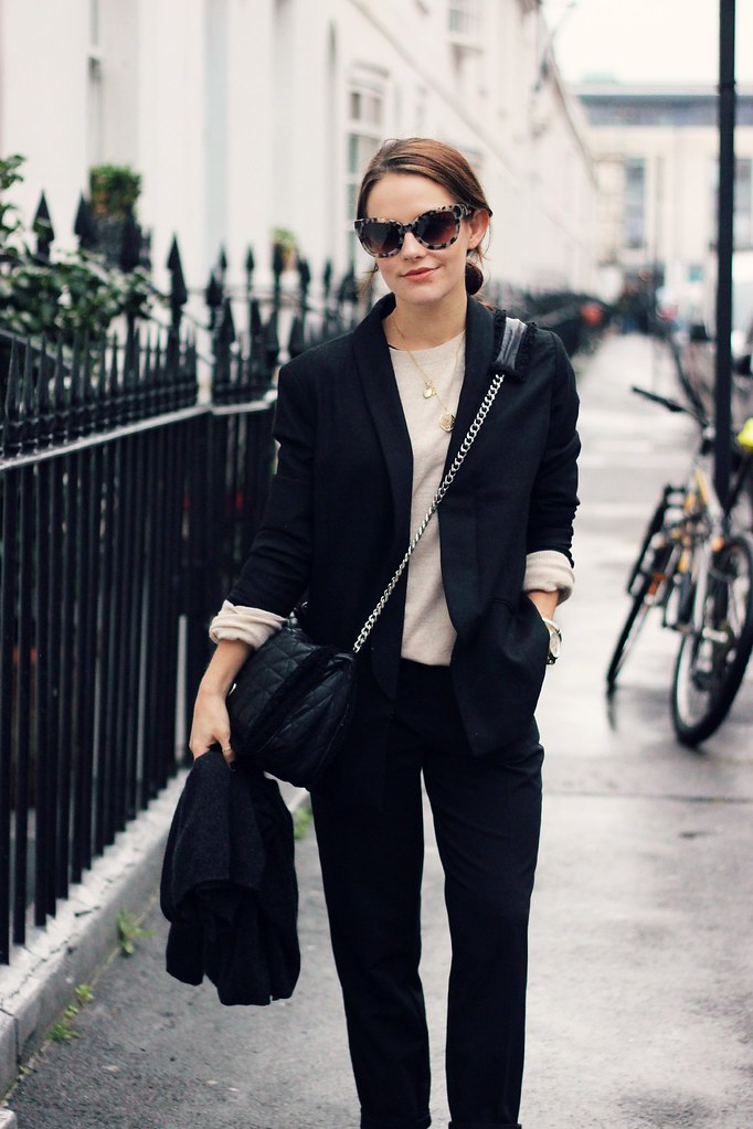 HUSH black oversized blazer 1