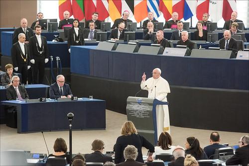 Papa Francesco al Parlamento Europeo - Strasburgo, 25/11/2014