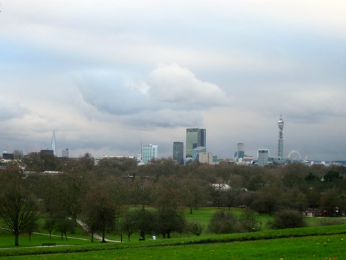 Christmas Eve Day View From Primrose Hill