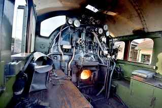 Steam train cabin and firebox
