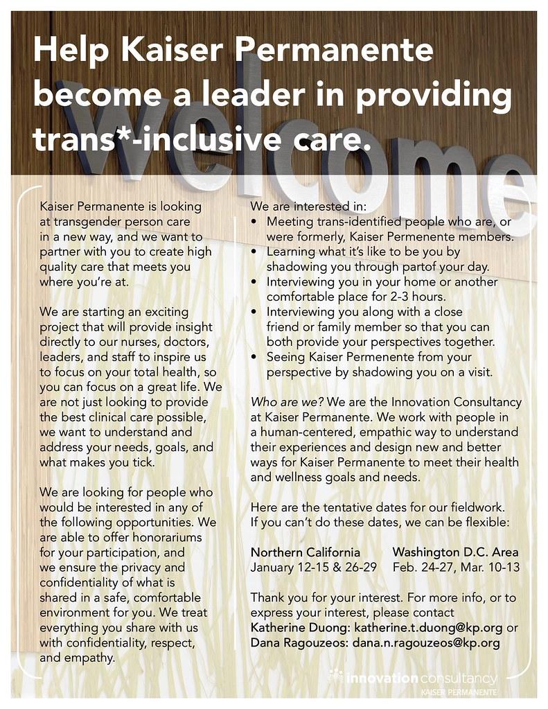 KPLantern- Help Kaiser Permanente Become a Leader in trans*-inclusive care 51518