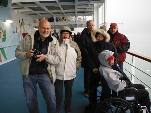 31. Lee, Irene, Matt, Pattye, Frosty and Allen Embark on Alaska Cruise