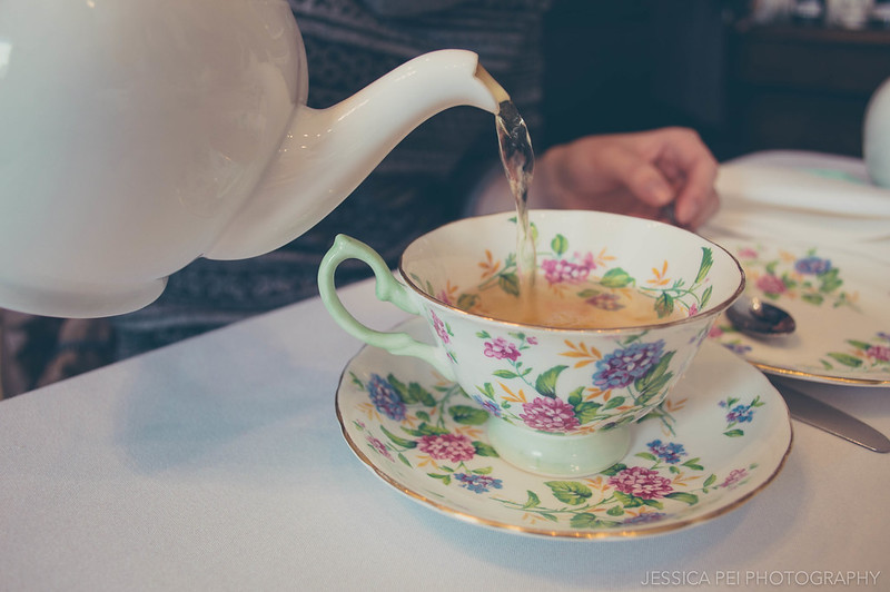 Pouring Tea at London Tea Room St. Louis