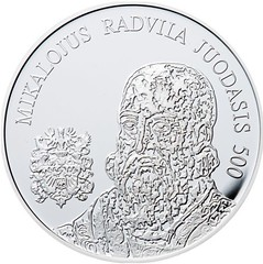 Lithuania Mikalojus Radvila coin obverse