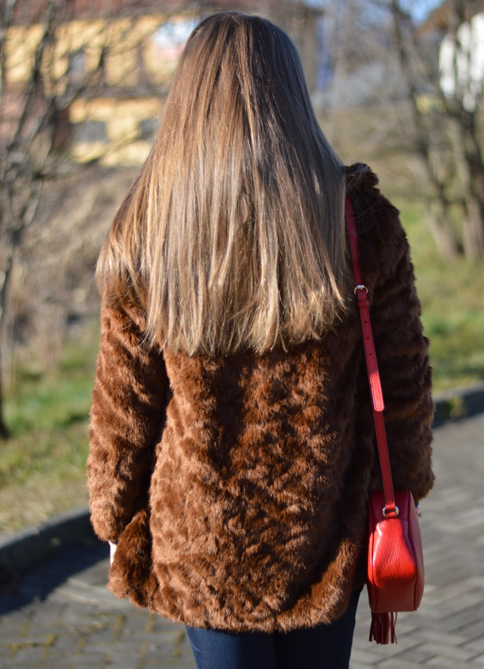 pellicciotto, faux fur, Zara, outfit, look, Benetton, Gucci, disco bag, wildflower girl (22)