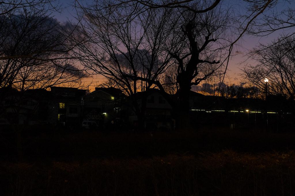 東京の夕陽