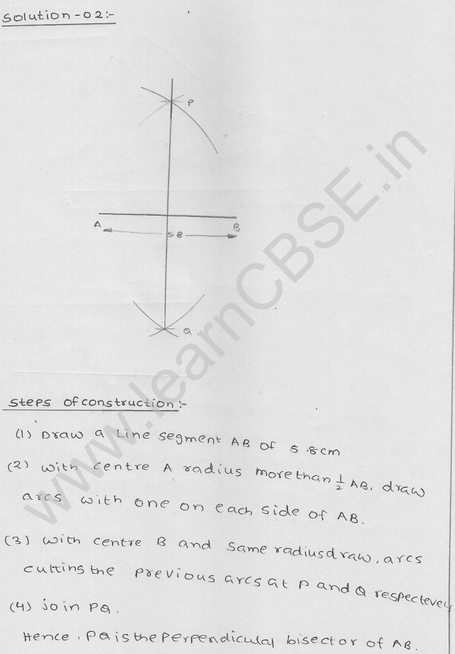 RD Sharma Class 9 solutions Chapter 17 Constructions Ex 17.1 Q 2
