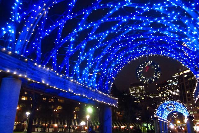 Christmas Lights at Chrisopher Columbus Park, Boston