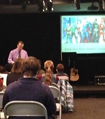 I got to speak at chapel today! I really miss teaching kids...