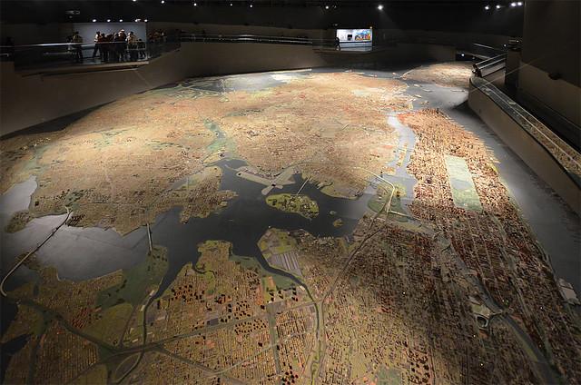 Gigantesca maqueta de Nueva York vista desde arriba