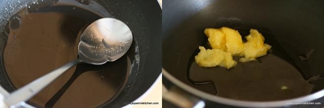 sugar syrup +ghee
