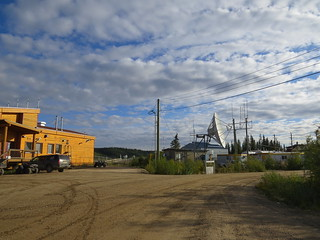 Partly cloudy morning in Old Crow, Yukon, Canada