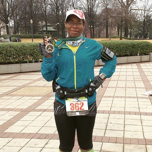 Finished the #runmercedes #marathon in 5:03. Rainy and cold weather made this tough course that much harder! I'm proud of myself because this is the strongest marathon I've run! #noquitting #teamchocolatemilk #builtit #instarunner #marathonmaniacs