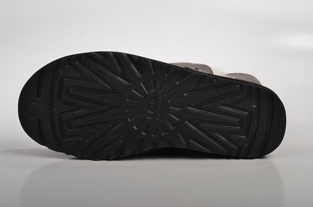 ugg australia bailey button bomber boot lammfell gef ttert 5838 leder schwarz grau 5. Black Bedroom Furniture Sets. Home Design Ideas