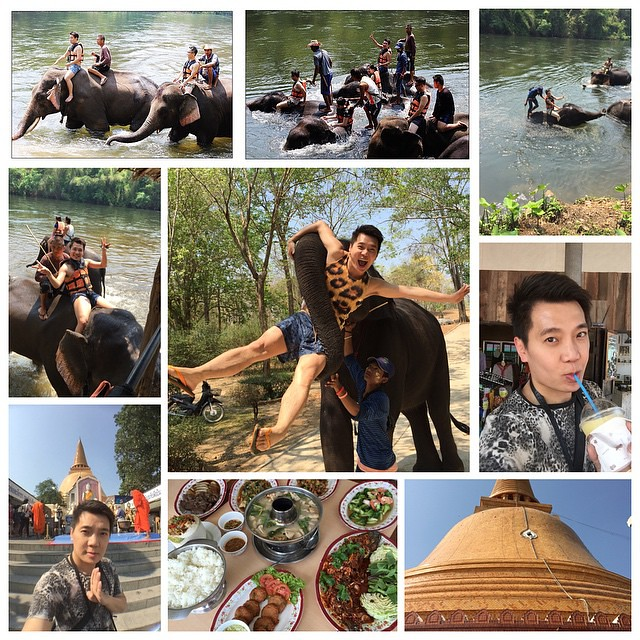 順怡深度泰國遊Day2 上半場:北碧府和大象游泳戲水+參觀最高佛塔!請期待這躺旅程的「ㄧ分鐘學泰語」系列影片