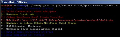 CMSmap - Content Management System Security Scanner