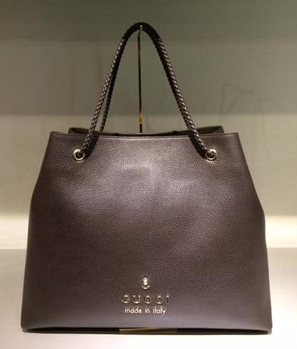 $739 Large Gifford Tote in Chocolate Leather 380118_CAO0G_2044