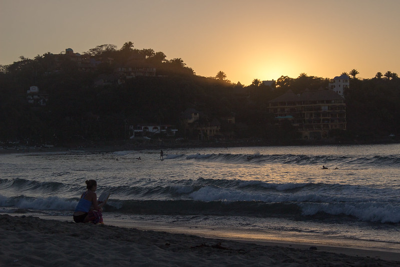 beach sunset, Sayulita, Mexico