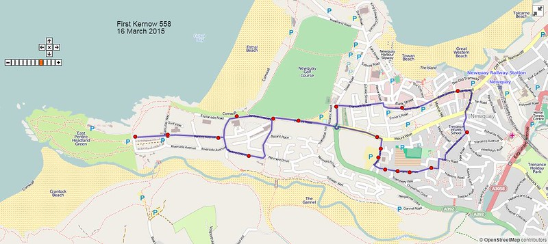 First Kernow Route-558 Map-16March2015