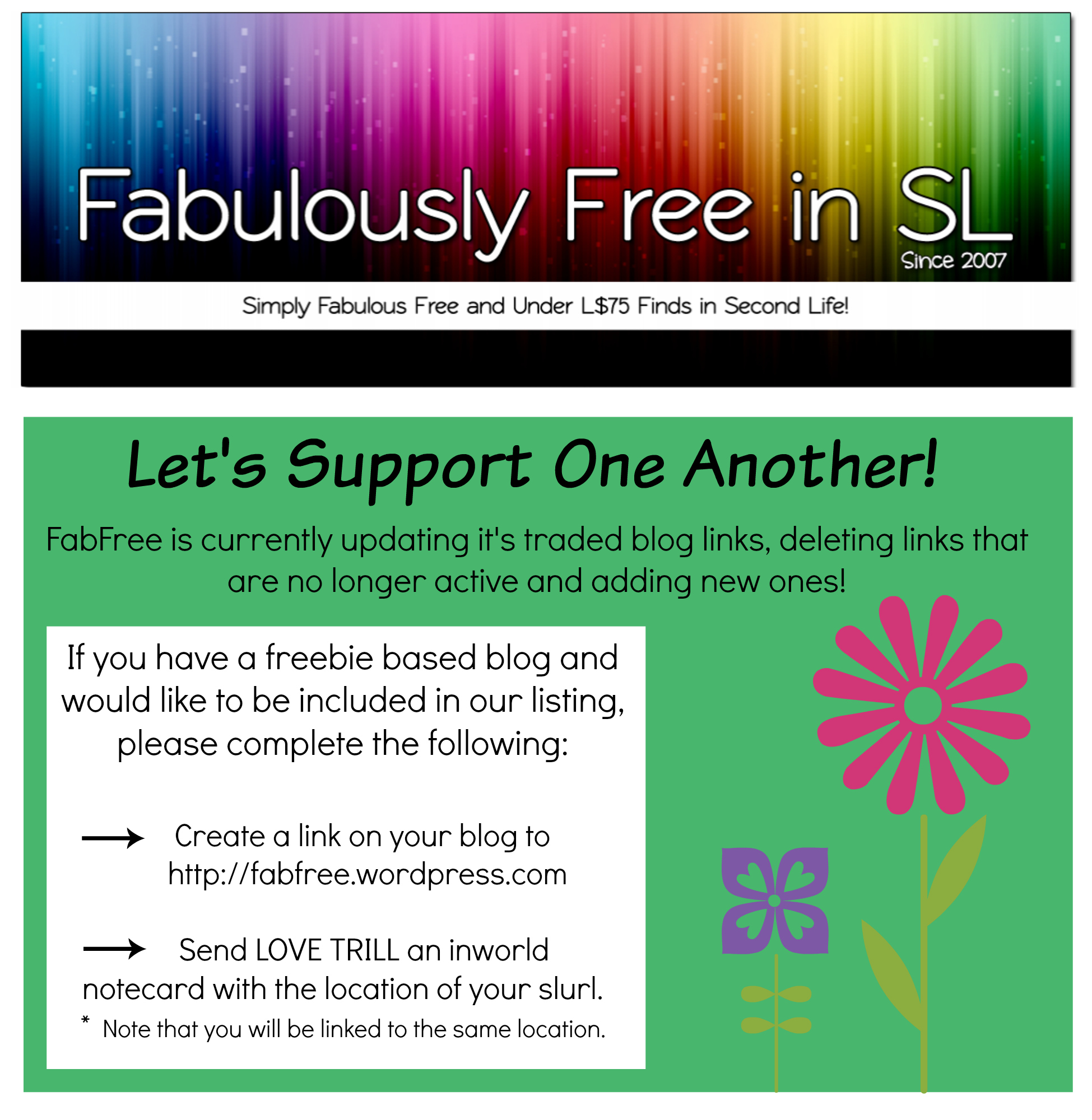 Do You have a SL Based Freebie Blog?