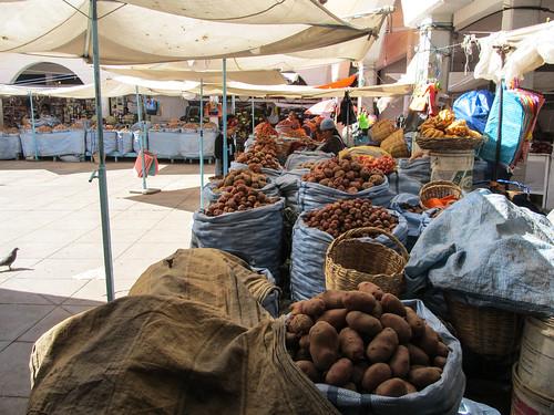 Sucre: el mercado central et ses patates