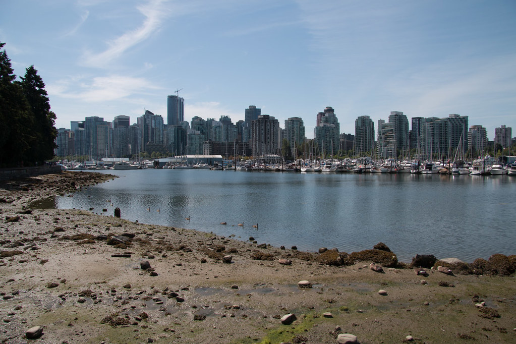 Skyline view of Vancouver from Stanley Park