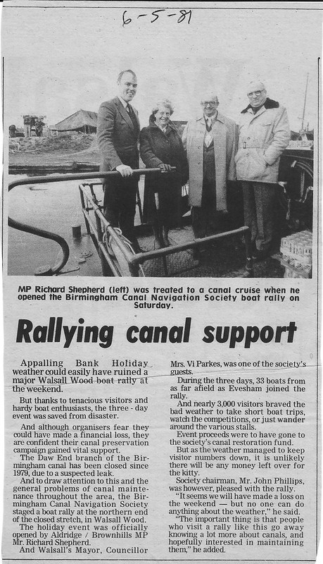 Canal Rally 1981 Walsall Wood
