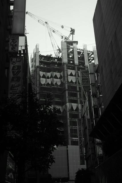新宿南口工事 Construction, Shinjuku Tokyo, 06 Dec 2014. 041