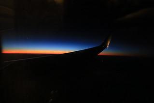 機上からのマジックアワー