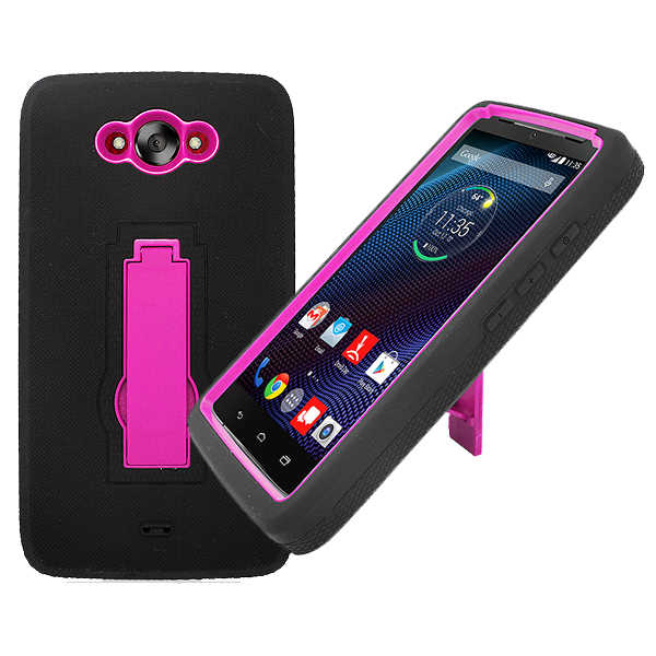 Kickstand Double Layer Hybrid Case for Motorola Droid Turbo XT1254 Phone Cover
