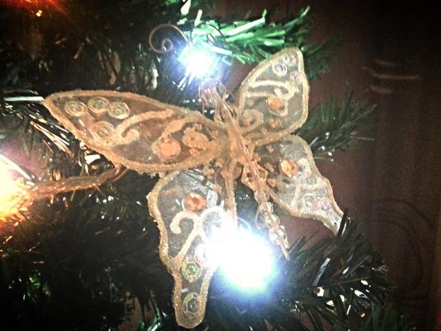 Butterfly tree ornament