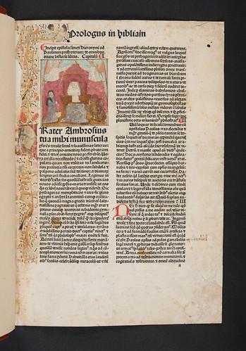 Historiated miniature in Biblia latina