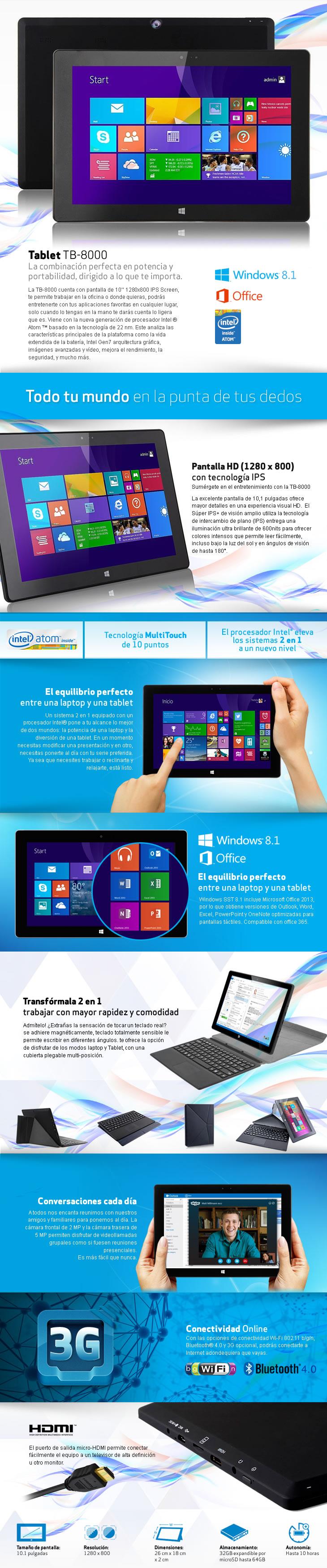 Síragon Tablets TB-8000