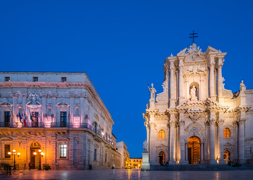 ABM (Another Blue Monday)  / The cathedral of Siracusa, originally an ancient Greek temple