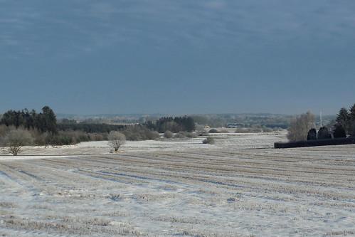 winter snow landscape denmark vinter danmark sne jylland landskab smidstrup