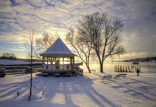 morning winter usa snow ny cold sunrise canon paradise peace shadows snowy peaceful chilly idyllic 2014 skaneateleslake skaneateles skaneatelesgazebo