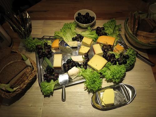 Käseplatte zum Abschluss meiner Geburtstagsfeier