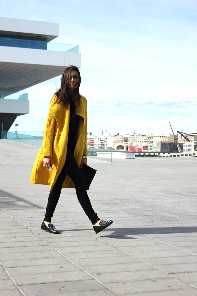 yellow coat fashion shoes coohuco 1