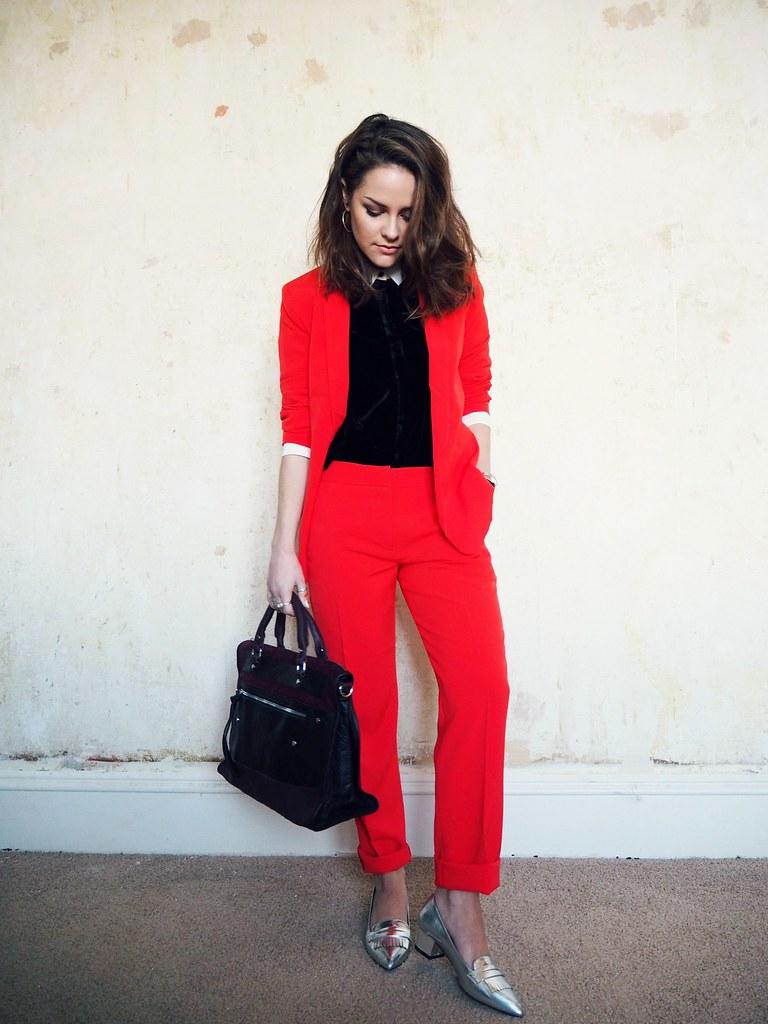 ASOS red cigarette suit 4