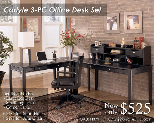 Carlyle 3PC Office Set - Priced