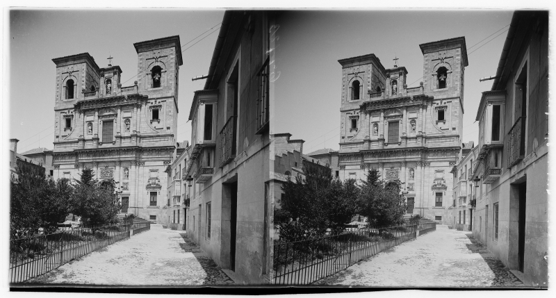 Plaza del Padre Juan de Mariana e Iglesia de San Ildefonso o Los Jesuítas hacia 1900. Fotografía de Alois Beer © Österreichische Nationalbibliothek